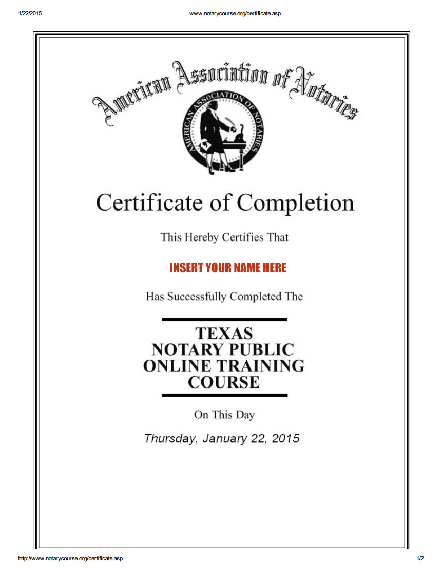 Learn notary public law online eternal notary learn notary public notarycourse certificate blank ccuart Image collections